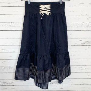 Anthropologie Akemi + Kin La Mer Lace-Up Skirt